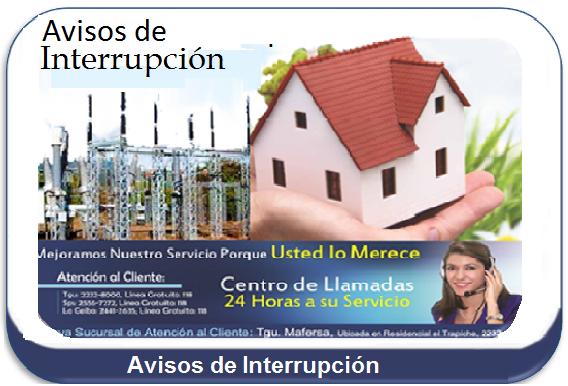 Aviso de Interrupción